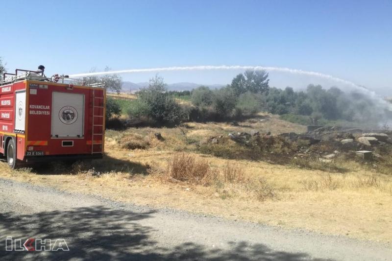 Çöpü yakayım derken 3 dönümlük araziyi yaktı