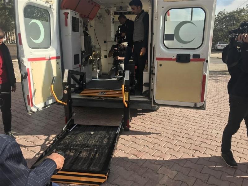 Elazığ`da Engelli Hasta Nakil Ambulansı Hizmete Girdi