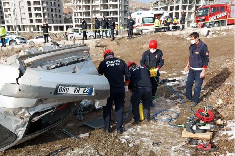 Elazığ'da trafik kazası: 1 ölü 1 yaralı