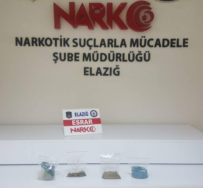 Elazığ`da Uyuşturucu Operasyonu: 4 Gözaltı