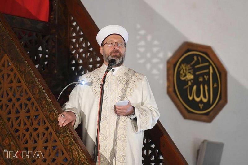 Elazığlılardan Diyanet İşleri Başkanı Erbaş'a destek