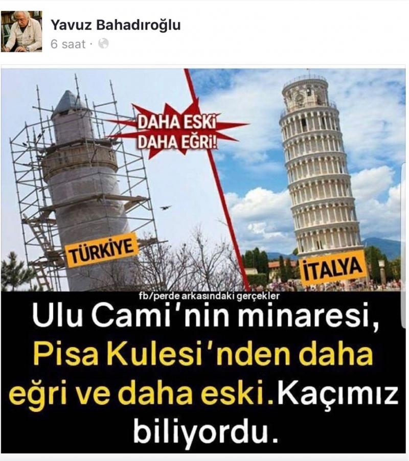 Harput Ulu Cami Pizza Kulesinden Daha Eğri
