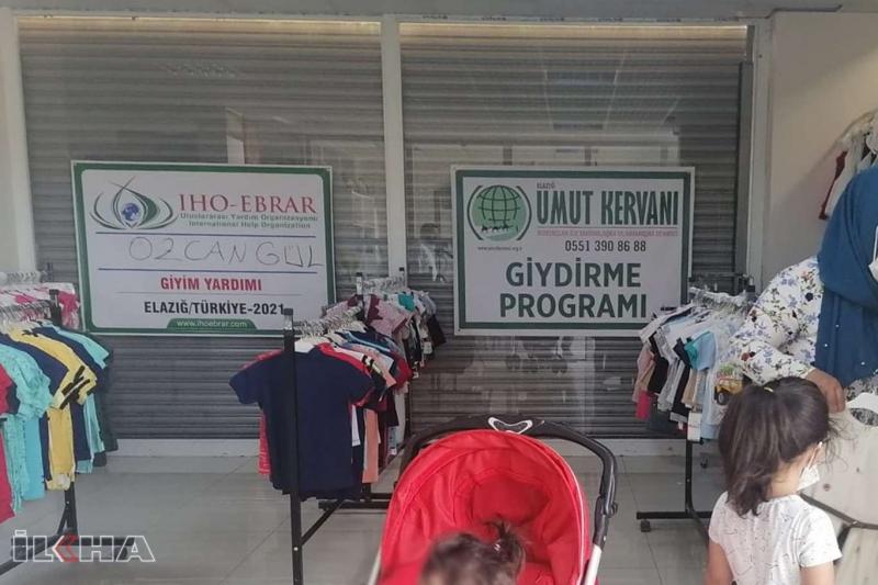 İHO EBRAR ve Umut Kervanı Elazığ'da 300 aileye giyim yardımında bulundu