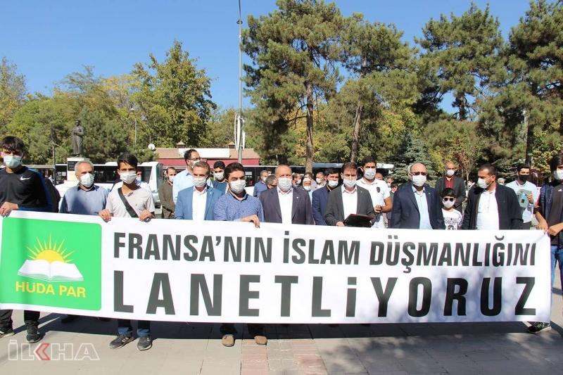 İslam'a ve Müslümanlara yapılan saldırılar Elazığ'da lanetlendi