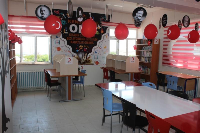 Kızılay Kovancılar Şubesi Ekinözü Köyünde Kütüphane açtı