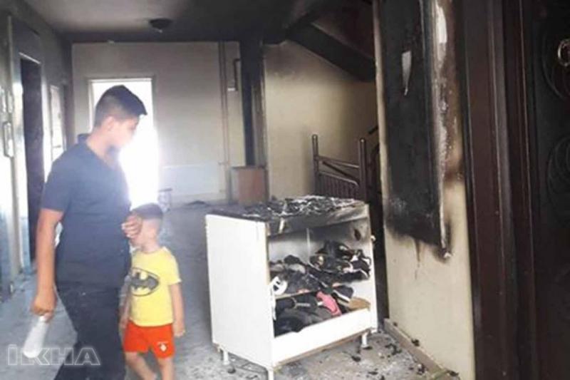 Kovancılar TOKİ'deki evde yangın çıktı
