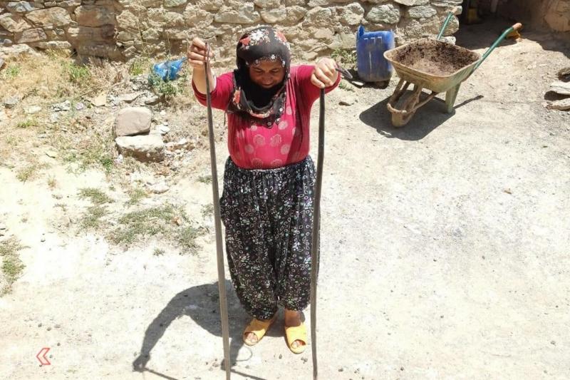 Metruk ahırlarda çıkan 2 metre boyundaki yılanlar köylüleri korkutuyor