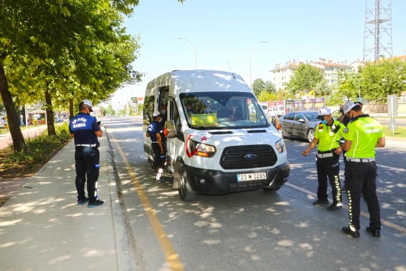 Minibüs ve Otobüslerde Coronavirüs denetimi yapıldı