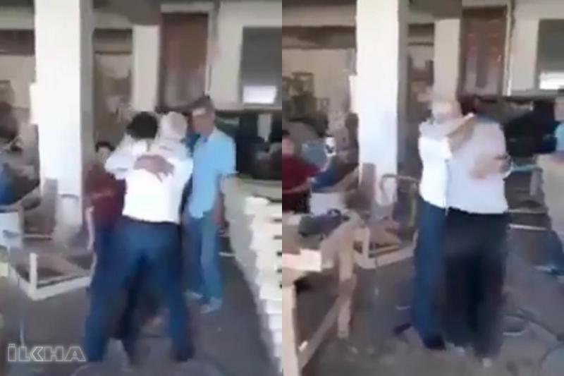 Öldü sandığı oğluna kavuşan Suriyeli babanın görüntüleri duygulandırdı