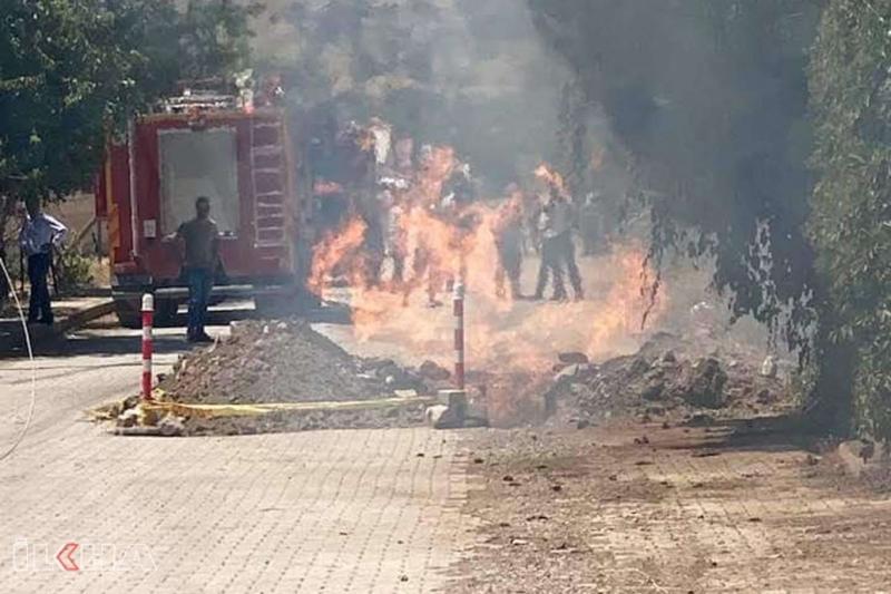 Palu'da doğalgaz borusu patladı