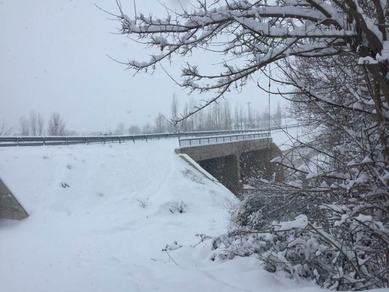 Palu`da Kar Hangi Köy Yollarını Kapattı