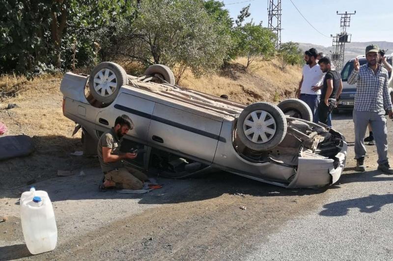 Palu`da meydana gelen kazada bir kişi yaralandı