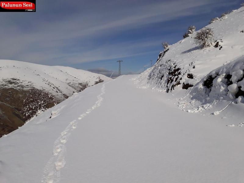 Palu`da Kar Nedeniyle Taşımalı Eğitime Yarın Kar Tatili