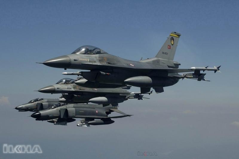 Türkiye jetleri Şam konvoyunun girdiği bölgeyi bombalıyor